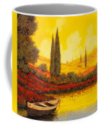 La Barca Al Tramonto Coffee Mug by Guido Borelli