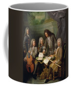 La Barre And Other Musicians, C.1710 Oil On Canvas Coffee Mug