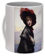 La Coquette Coffee Mug by Gustave Jean Jacquet