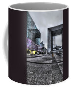 La Defense In The Rain Coffee Mug