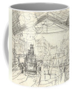 La Gare Saint Lazare Coffee Mug by Claude Monet