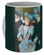 La Goulue Arriving At Moulin Rouge With Two Women Coffee Mug