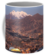La Paz Skyline At Sundown Coffee Mug