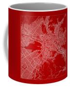 La Paz  Street Map - La Paz Bolivia Road Map Art On Color Coffee Mug