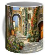 La Porta Rossa Sulla Salita Coffee Mug by Guido Borelli