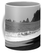 La Push Beach Black And White Coffee Mug
