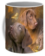 Lab In Autumn Coffee Mug