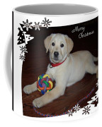 Lab Pup Merry Christmas Coffee Mug