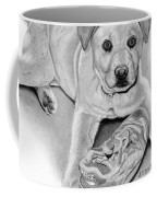 Sneaker Snatcher- Labrador And Chow Chowx Mix Coffee Mug