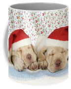 Labrador Puppy Dogs Wearing Christmas Coffee Mug