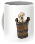 Labrador Puppy In Bucket Coffee Mug