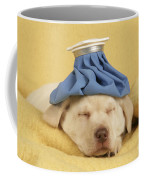Labrador Puppy With Ice Pack Coffee Mug