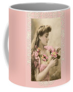 Lace And Poisies Victorian Lady Coffee Mug