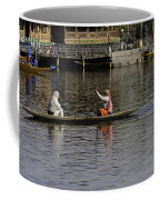 Ladies Plying A Small Boat In The Dal Lake In Srinagar - In Fron Coffee Mug
