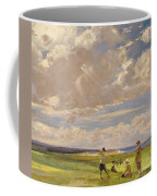 Lady Astor Playing Golf At North Berwick Coffee Mug