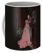 Lady At The Fireplace   Coffee Mug