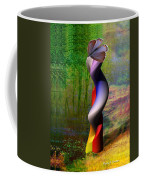 Lady At The Pond With Butterfly Coffee Mug