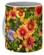 Lady Bird And Her Flowers Coffee Mug