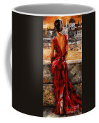Lady In Red  34 -  I Love Budapest Coffee Mug by Emerico Imre Toth
