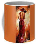 Lady In Red  39 Coffee Mug