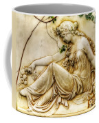 Lady In Robe And Roses Coffee Mug