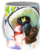 Lady In The White Hat And Trim Coffee Mug