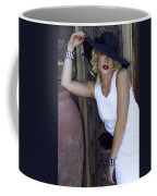 Lady In White Palm Springs Coffee Mug