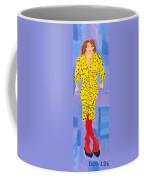 Lady In Yellow Coffee Mug