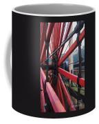 On The Isle Of Man, Lady Isabella Wheel Close Up Coffee Mug