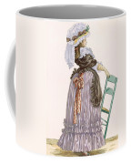 Lady Leaning On Chair, Engraved Coffee Mug