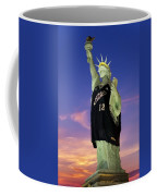 Lady Liberty Dressed Up For The Nba All Star Game Coffee Mug by Susan Candelario