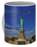 Lady Liberty In New York City Coffee Mug by Dan Sproul