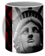 Lady Liberty Red White And Blue Coffee Mug