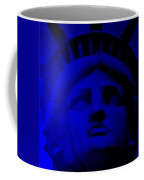 Lady Libery In Blue Coffee Mug