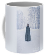 Lady Of The Winter Forest Coffee Mug