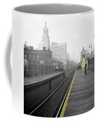 Lady On The El  Coffee Mug
