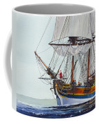 Lady Washington And Captain Gray Coffee Mug by James Williamson