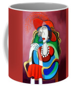 Lady With A Red Hat Coffee Mug