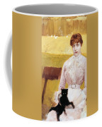 Lady With Black Kitten Coffee Mug