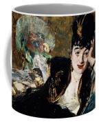 Lady With Fan Portrait Of Marie Anne De Callias Known As Nina De Callias Coffee Mug