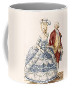 Lady With Her Husband Attending A Court Coffee Mug