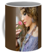 Lady With Pink Rose Coffee Mug