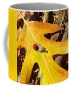 Ladybug Leafing By Diana Sainz Coffee Mug