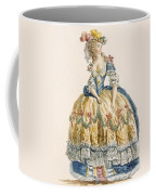 Ladys Elaborate Ball Gown, Engraved Coffee Mug