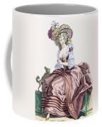Ladys Elegant Caramel Coloured Satin Coffee Mug
