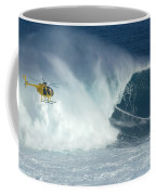 Laird Hamilton Going Left At Jaws Coffee Mug by Bob Christopher