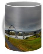 Lake Champlain Bridge Panorama From Crown Point Coffee Mug