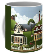 Lake Cottages Coffee Mug