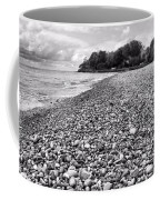 Lake Erie Coast Black And White Coffee Mug