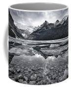 Lake Louise - Black And White #2 Coffee Mug